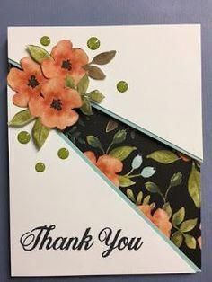 My Creative Corner Daisy Delight Thank You Card Recessed Panel Technique Stampin Up Rubber Stamping Handmade Cards Making Greeting Cards, Greeting Cards Handmade, Simple Handmade Cards, Handmade Thank You Cards, Hand Made Greeting Cards, Fancy Fold Cards, Folded Cards, Stamping Up Cards, Rubber Stamping