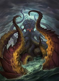 N'Zoth, the Corruptor - Hearthstone: Heroes of Warcraft Wiki Art Warcraft, World Of Warcraft, Hearthstone Wallpaper, O Kraken, Dark Fantasy, Fantasy Art, Final Fantasy, Hearthstone Heroes Of Warcraft, Mononoke Anime