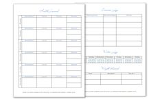 A health journal, exercise log, water log and weight record (two sheets), freebies are in .doc format.