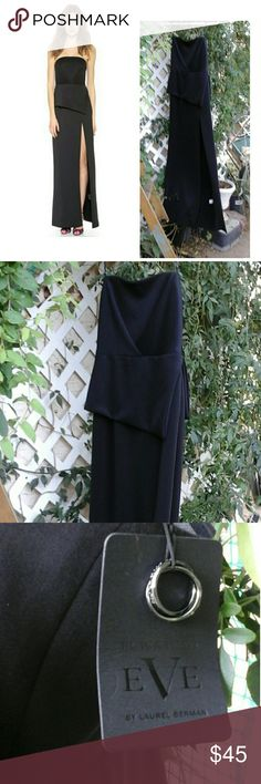 Black Halo Raquel Strapless Gown New Black Halo Raquel Strapless Gown $650.00 smoke free home Black Halo Dresses