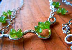 Peridot Sterling Silver Necklace August by keywestdesigning, $34.00