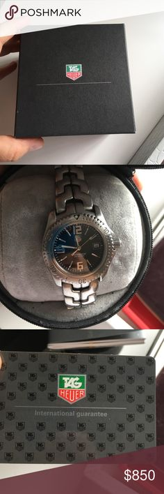 Tag Heuer WT 1310 Watch Needs new battery, comes case, authenticity card, booklets, etc. Tag Heuer Accessories Watches