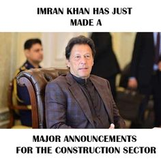 Construction Sector, Plots For Sale, Imran Khan, Announcement, How To Make, Fictional Characters, Fantasy Characters