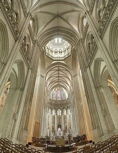 Another wonderful picture showing the crossing and apse of the Cathedral of Coutances in Normandy.  This cathedral has a copula over the crossing adding even more light to the design.