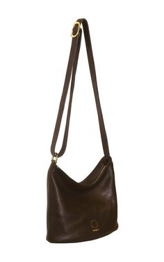 Lady Bag Leather body / Oval leather base / Inside leather pocket / Ykk Zip / Solid brass hardware / Black cotton lining / Adjustable Strap up to in length H at center front x 20 cm H at sides x W x D at base x 12 cm Handmade in New Zealand Black Cotton, Leather Bag, Lady, Leather Satchel