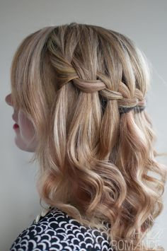 Hair Romance - 30 braids 30 days - 2 - the waterfall braid
