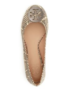 a576c04ccb37 Tory Burch Ballet Flats - Cobra-Embossed Reva EDITORIAL - Women s New  Arrivals - Shoes - Bloomingdale s