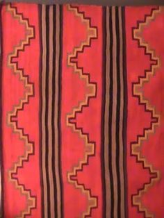 Western/Native red-themed textiles for seat cushions