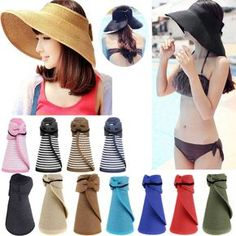 1f3c081632c00 Details about Pink Womens Sun Visor Hats Beach Golf Wide Brim Hats Ladies  UV Protection Hats