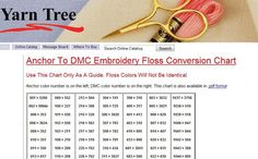 9 Essential Embroidery Color Conversion Charts: Anchor to DMC from YarnTree