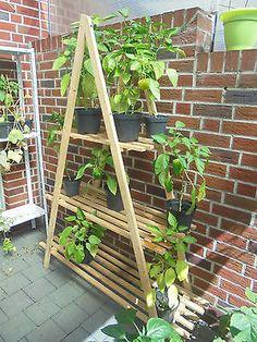 Gartenregal Blumenregal Blumentreppe Pflanzentreppe Pyramide Raumteiler 190 cm