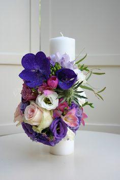 Flowers of Soul: Lumanari de cununie Design Floral, Point Lace, Candels, Seasonal Flowers, Crepe Paper, Table Decorations, Holiday Decorations, Wedding Flowers, Decorative Candles