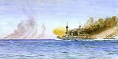 william lionel wyllie paintings - Battle of the Falklands