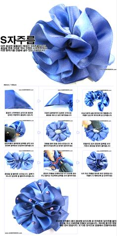 "Ribbon DIY ... (Not in English, but the pics are awesome enough to ""get it"" anyway) .... http://gaberibbon.com/starter/starter_sub.html?send_title=62_mode=3#"