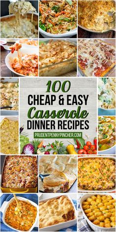 Make a stress free dinner on a budget with these cheap and easy casserole recipes. Make a stress free dinner on a budget with these cheap and easy casserole recipes. Easy Dinners For Two, Cheap Dinners, Easy Healthy Dinners, Easy Dinner Recipes, Food Dinners, Pasta Dinners, Easy Recipes, Vegetarian Dinners, Weeknight Dinners