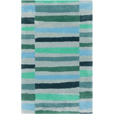 Found it at Wayfair - Young Life Teal Area Rug Foyer?