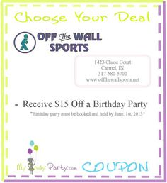 OFF THE WALL COUPONS