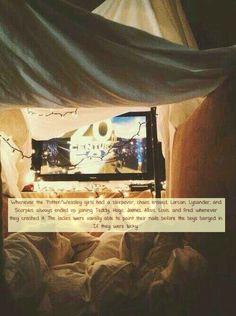 Weasley/Potter Sleepovers