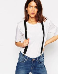 Jeans and suspenders