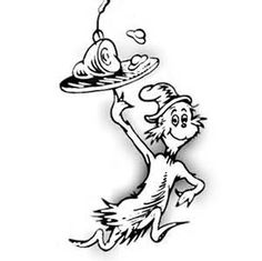Dr Seuss Characters Coloring Pages