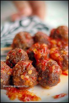 Kehidupan Cahaya Hidup: Daging Bola Balado (Spicy Satay Meatball)