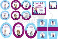 Kit Festa Digital Tema Frozen. Encomendas e Orçamentos: ateliebexiga@gmail.com