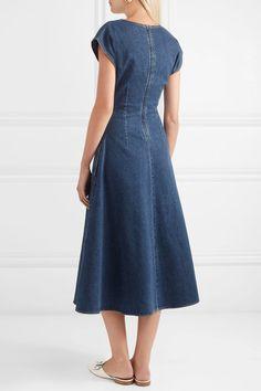 Blue stretch-denim Concealed zip fastening along back 98% cotton, 2% elastane Machine wash or dry clean Designer wash: Midnight Made in Italy