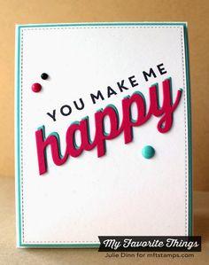 Happy Everything, Happy Die-namics - Julie Dinn #mftstamps