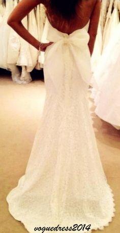 BEAUTIFUL backless wedding dress with bow, slim silhouette, elegance, formal wedding gown, summer wedding #weddingdress
