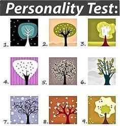 This is cool… L00K at the trees and choose the one that is immediately most appealing to you. I'm a 4. Don't think about it too long, just choose, see what hits you first, and find out what your...