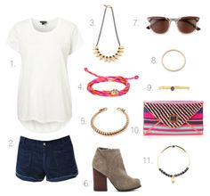 An awesome summer outfit from My Style Diaries blog featuring the bombom Jewelry Dainty Ruby Stackable Ring