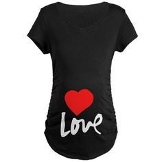Look at this CafePress Black 'Love' Maternity V-Neck Tee on today! Cute Valentines Day Gifts, Maternity Shorts, Maternity Fashion, Mommy Style, Baby On The Way, Love T Shirt, Pregnancy Shirts, Black Love, Love S