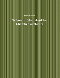 """Tribute to Homeland for Chamber Orchestra is based on a Yoruba folk song titled, """"Mo ri kini kan t'o nfo loferefe"""" (I see something flying in the sky). Using this song as the basis of this work creates a nostalgia for my home country, Nigeria. Memories of singing the song at Eko Boys' High School Choir in Lagos readily comes to mind. The work is in four main sections. Some of the Africanisms employed in the work are the scintillating dance rhythms,parallel harmony, ostinati, interlocking…"""