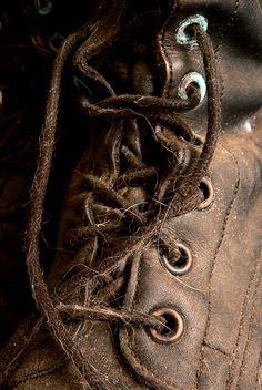 boot laces by Leonard John Matthews, via Flickr