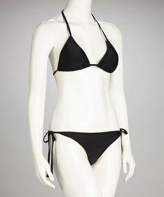 Take a look at this Sunshine Zone Black Ellina Bikini - Women by Sun Soaked: Women's Swimwear on @zulily today!