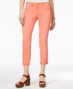 Jessica Simpson Forever Cuffed Skinny Ankle Jeans - Pink 28