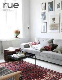 Wohnideen Vintage Stil wohnzimmer im vintage stil mit skandinavischen elementen parkett