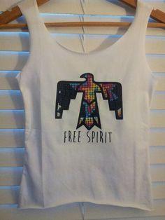 Aztec Free Spirit Sacred Thunderbird Crop Top by TheLotusPetals, $20.00