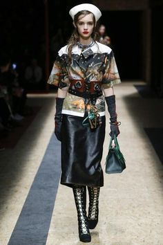 See every look from Prada's stunning Fall 2016 fashion show