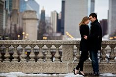 Beautiful Chicago Winter Engagement