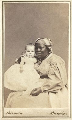 +~+~ Antique Photograph ~+~+  African American Woman and her white charge.