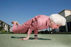 89 years old Yoga Teacher. I always said I never wanted to live to be old... but if I'd be able to do this, I'd be willing to live a long life. Should probs work on getting there though...