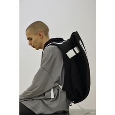 "Featuring ""Road to Nowhere"" graphic and bright white webbing straps. Futuristic Design, World Of Fashion, Collaboration, Fashion Backpack, Bring It On, Bright, Stylish"