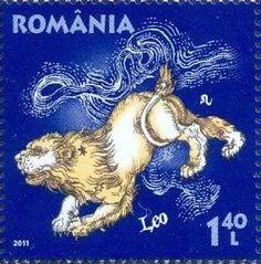 ἇ ℒeo~Zodiac~Romania - LEO postage stamp Map Crafts, Letter A Crafts, Leo Zodiac, Zodiac Signs, Lion Cat, Canada Images, Love Stamps, Color Of Life, Mail Art
