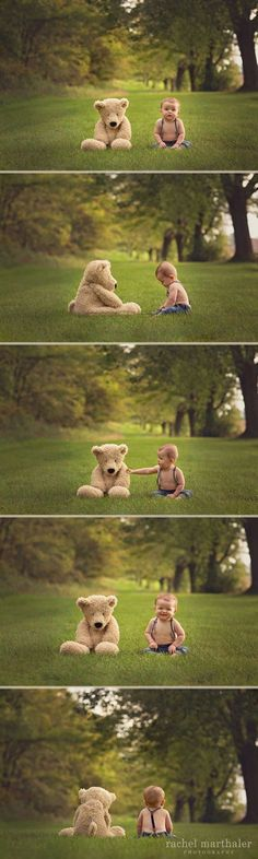 Baby Teddy Bear Photos - so adorable! Baby Teddy Bear Photos - so adorable! Baby Boy Pictures, Newborn Pictures, Newborn Baby Photography, Children Photography, Heart Photography, Family Photography, Twin Babies, Baby Boys, Kids Boys