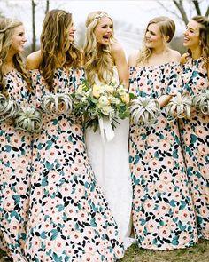 Crew in Steel Magnolia Bridesmaid Dresses #mumuweddings