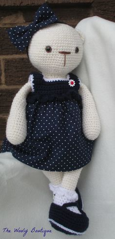 Betty the Bear -made to order - colours to suit