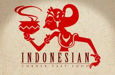 "logo design for the Indonesian restaurant somewhere located in Jb, M'sia inspiration from Indonesian traditional ""wayang kulit"" which means ""Shadow Puppet Theater"""