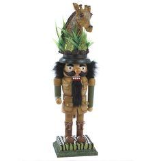 "Kurt s Adler 21"" Giraffe Hat Safari Style Christmas Holiday Nutcracker HA0097 | eBay"