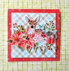 Unikaty Beaty: Z sarenką Christmas Note, Christmas Card Crafts, Christmas Scrapbook, A Christmas Story, Christmas Printables, Holiday Cards, Christmas Cards, Paper Cards, Scrapbook Cards